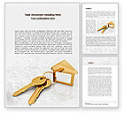 Careers/Industry: Locked House Word Template #08580