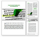 Legal: Policy Word Template #08581