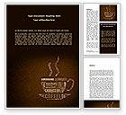 Food & Beverage: Coffee Break With Various Coffee Word Template #08591