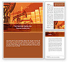 Careers/Industry: Oil Production Word Template #08593