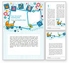 Education & Training: Childhood Things Word Template #08601