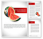 Global: Sweet Watermelon Word Template #08612