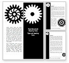 Consulting: Black And White Gears Word Template #08632