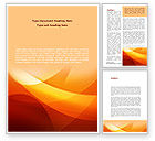 Abstract/Textures: Orange Wave Word Template #08638