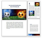 Sports: Football League Word Template #08644