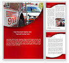 Medical: Emergency 911 Word Template #08652