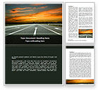 Construction: Going Ahead Word Template #08654