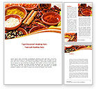 Food & Beverage: Fragrant Spices Word Template #08660
