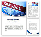 Financial/Accounting: Tax Bill Word Template #08661