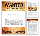 Legal: Wanted Criminal Word Template #08672