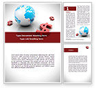 Financial/Accounting: World Money Word Template #08676