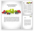 Food & Beverage: Cranberries Flavor Word Template #08677