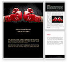 Business Concepts: Red Boxing Gloves Word Template #08680