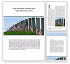 America: Memorable Events Word Template #08686