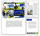 Sports: Summer Cyclist Tour Word Template #08694
