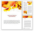 Food & Beverage: Peach Slices Word Template #08705