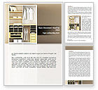 Careers/Industry: Modern Furniture Word Template #08720