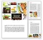 Food & Beverage: Healthy Food Basket Word Template #08727