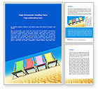 Careers/Industry: Lounge Beach Word Template #08728
