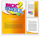 Education & Training: Back 2 School Word Template #08735