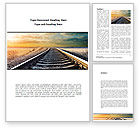 Construction: Railroad Stretching Into The Distance Word Template #08736