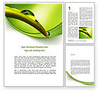 Nature & Environment: Flower Dew Word Template #08745