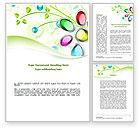 Art & Entertainment: Plantilla de Word - flores abstractas #08752