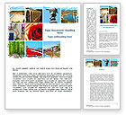Careers/Industry: Travel Memories Word Template #08764