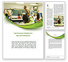 Education & Training: Classroom Education Word Template #08768