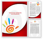 Religious/Spiritual: Colorful Palmprint Word Template #08774