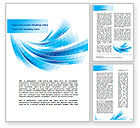 Abstract/Textures: Light Blue Stripes Word Template #08775