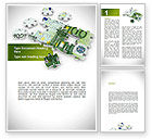 Financial/Accounting: Euro Puzzle Word Template #08777