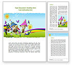 Education & Training: Summer Country Word Template #08783