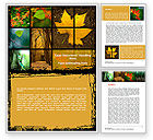 Nature & Environment: October's Leaves Word Template #08791