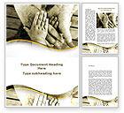 Religious/Spiritual: Family Ties Word Template #08796