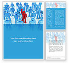 Education & Training: Leader In Crowd Word Template #08797