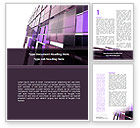 Abstract/Textures: Purple Glass Word Template #08804