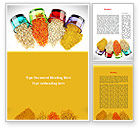 Food & Beverage: Spices Word Template #08817
