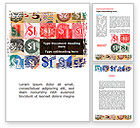 Financial/Accounting: Dollar Banknotes Word Template #08838