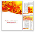 Nature & Environment: Red Leaves in Fall Word Template #08841