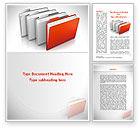 Careers/Industry: Folders Word Template #08842