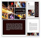 Utilities/Industrial: Electric Welding Word Template #08862