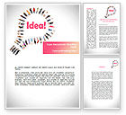 Business Concepts: Women's Idea Word Template #08866