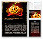 Holiday/Special Occasion: Free Jack-o-Lantern Word Template #08869
