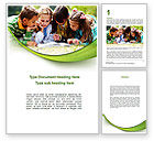 Education & Training: Childrens Reading Book Word Template #08875