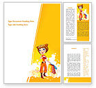 Holiday/Special Occasion: Lady Shopper Word Template #08876