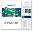 Religious/Spiritual: Heaven Or Hell Word Template #08877