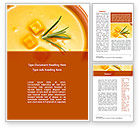 Food & Beverage: Cream Soup Word Template #08886