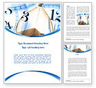 Business Concepts: Sandglass Word Template #08887