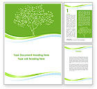 Nature & Environment: Painted Tree Word Template #08897
